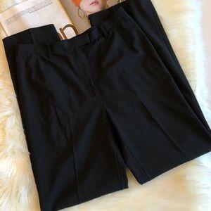 Lafayette 148 Black Wool Straight Leg Pants 8